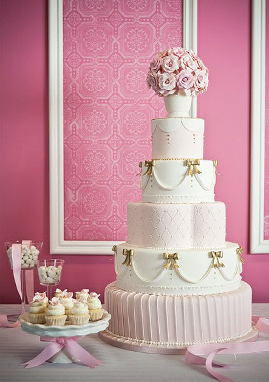 wedding cake shabby chic 12