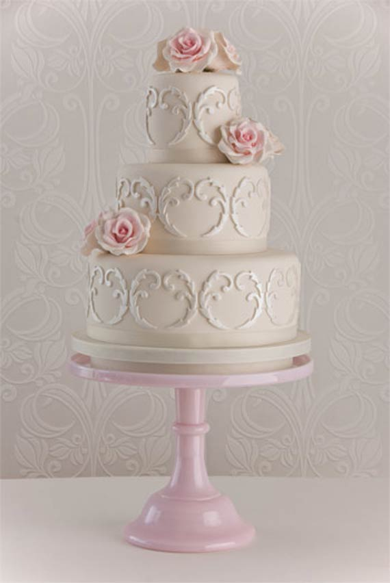 wedding cake shabby chic 14