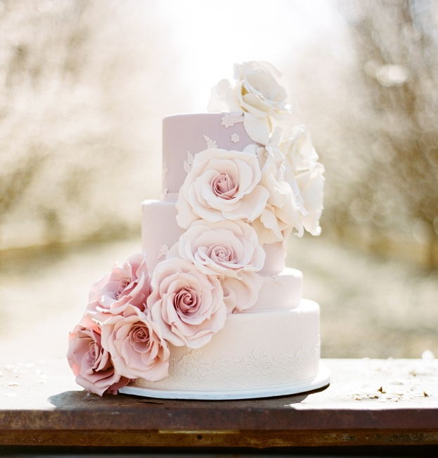 wedding cake shabby chic 15