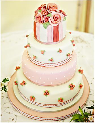 wedding cake shabby chic 16