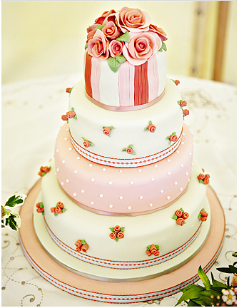 wedding cake shabby chic 16