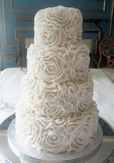 wedding cake shabby chic 17