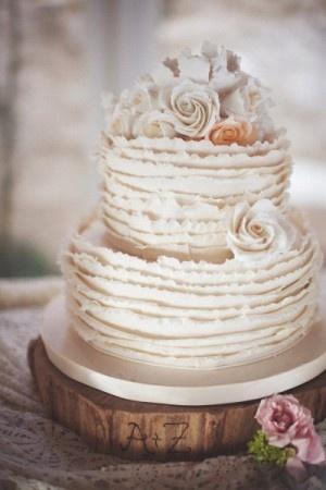 wedding cake shabby chic 18