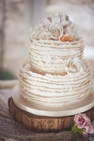 wedding cake shabby chic 18
