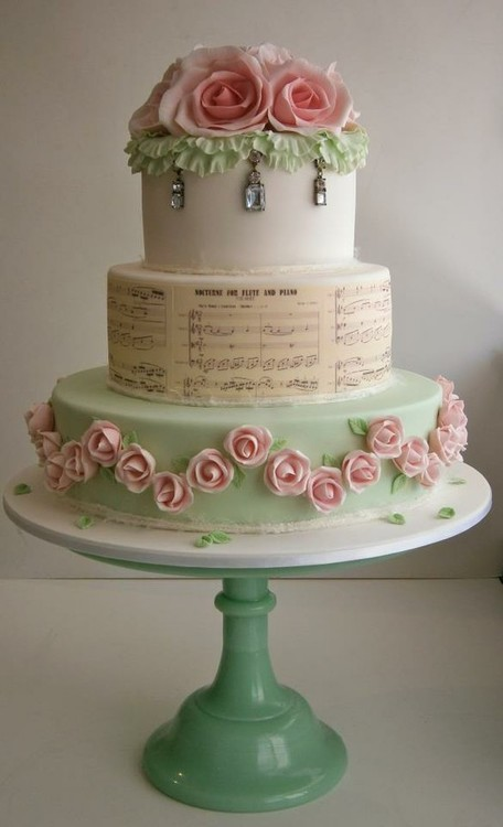wedding cake shabby chic 2
