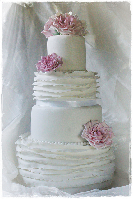 wedding cake shabby chic 3