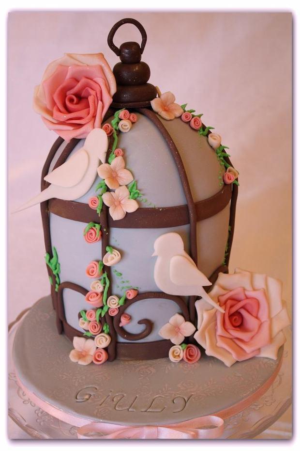 wedding cake shabby chic 4