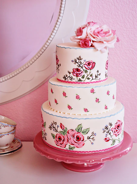 wedding cake shabby chic 5