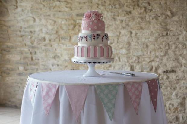 wedding cake shabby chic 6