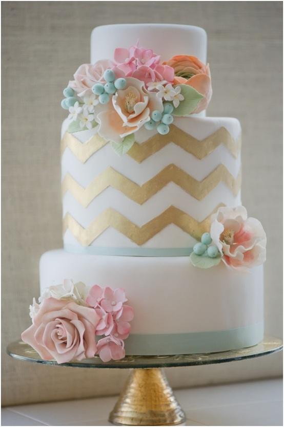 wedding cake shabby chic 7