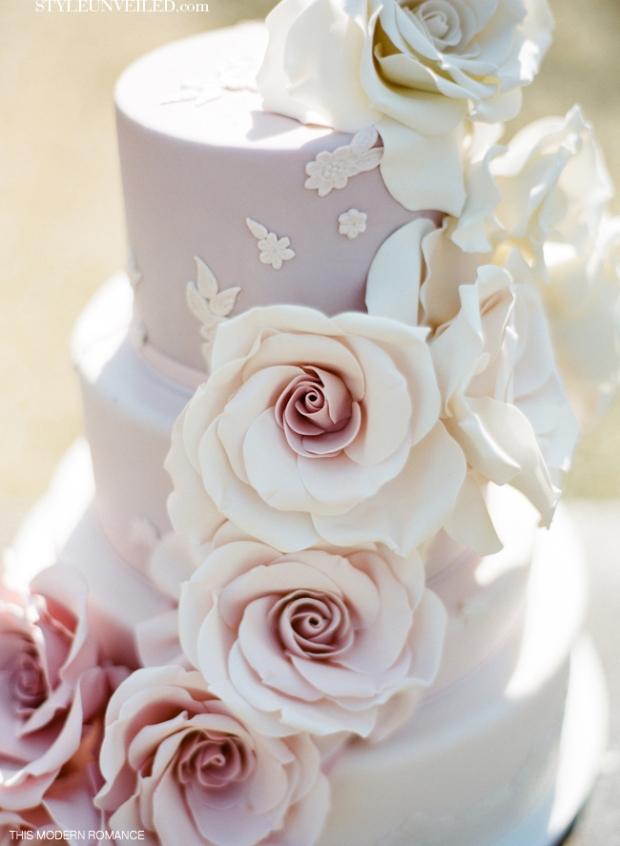 wedding cake shabby chic 8