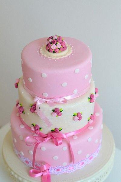 wedding cake shabby chic 9