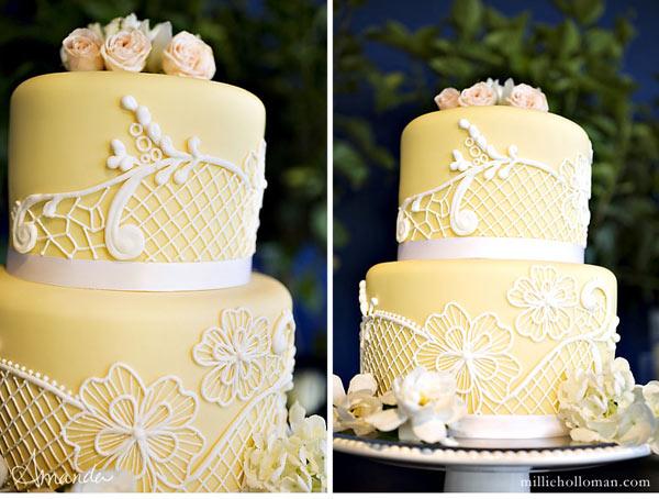 wedding cake shabby chic 21
