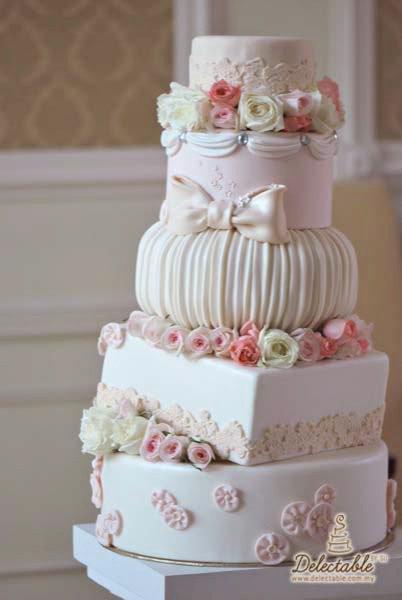 wedding cake shabby chic 22