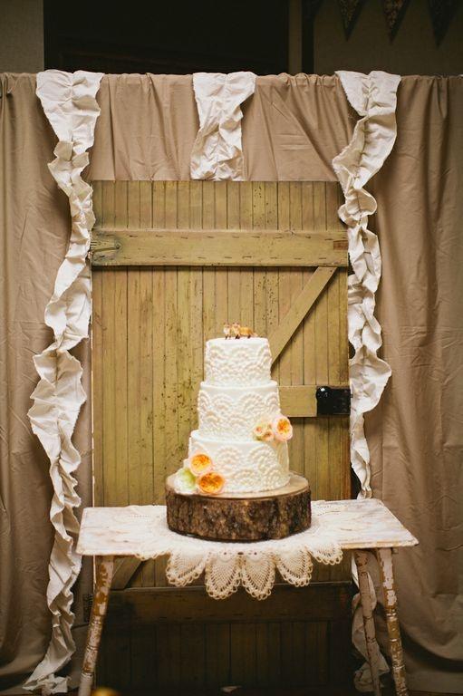 wedding cake shabby chic 23