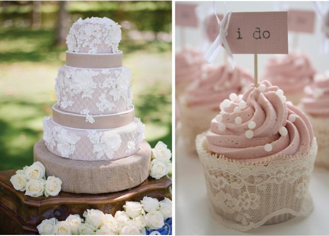 wedding cake shabby chic 26
