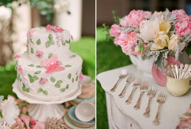 wedding cake shabby chic 28