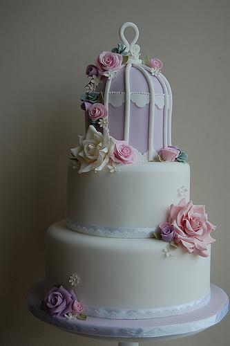 wedding cake shabby chic 29