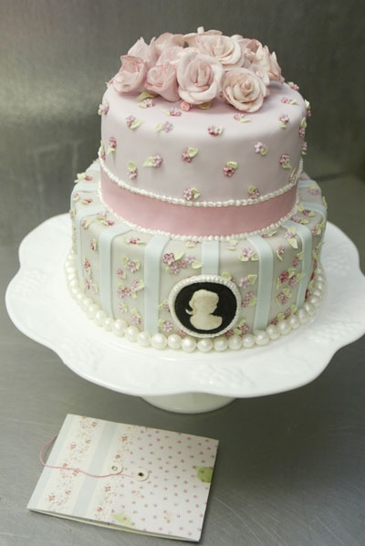 wedding cake shabby chic 32
