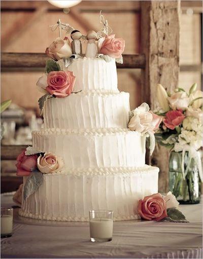 wedding cake shabby chic 33