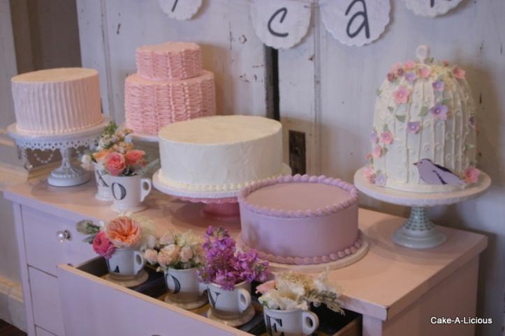 wedding cake shabby chic 34