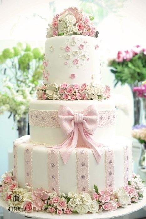 wedding cake shabby chic 35