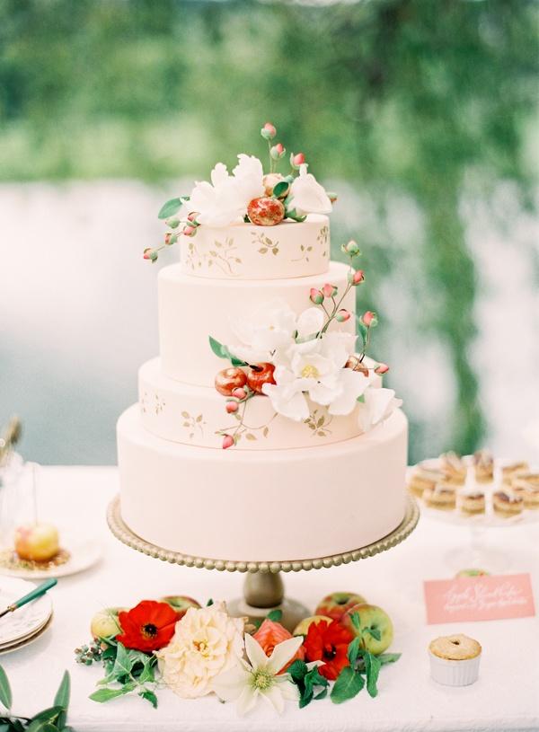 wedding cake shabby chic 36
