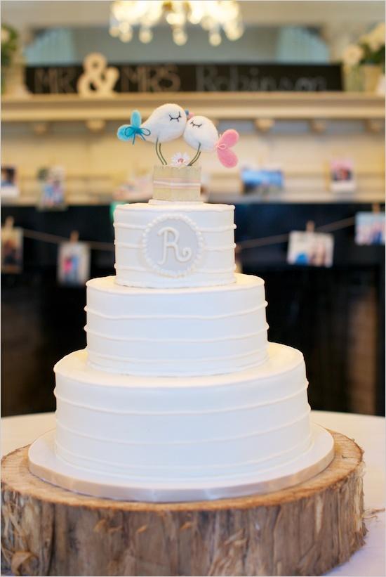 wedding cake shabby chic 37