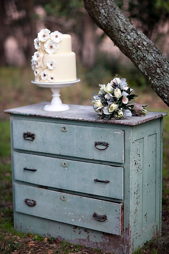 wedding cake shabby chic 38