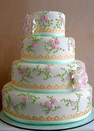wedding cake shabby chic