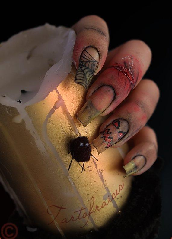 halloween nails 3