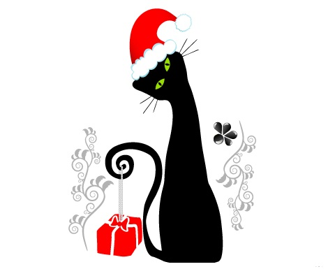 FASHION CAT CHRISTMAS