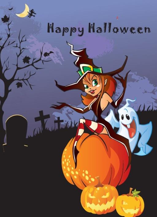 HalloweenThemeDesignVectorIllustration1