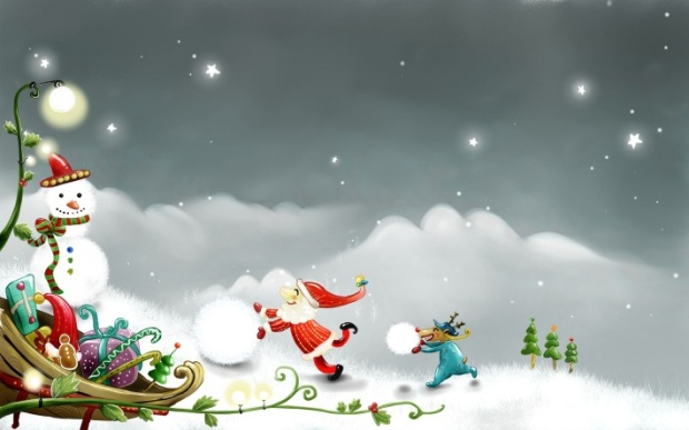 bigpreview_Christmas Drawing in Vector