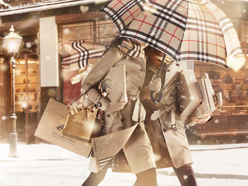 burberry with love campagna natale 2013
