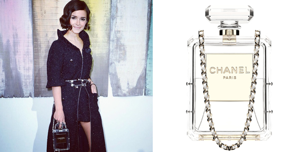 Chanel-bottle clutch miroslava duma