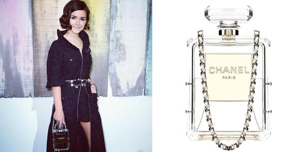 Chanel-bottle clutch miroslava duma