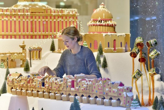 '??Lost London'?? cityscape brought to life in gingerbread at Selfridges'??