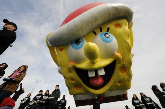 Macy's Thanksgiving Day Parade Balloonfest, Inflation of the SpongeBob Balloon