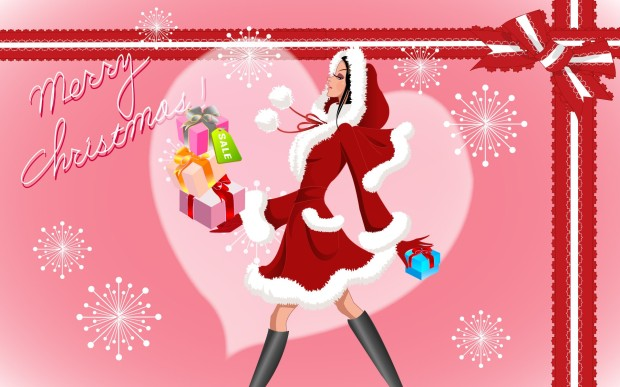 Vector-Christmas-girls-widescreen-31326