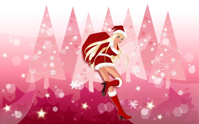 Vector-Christmas-girls-widescreen-43325