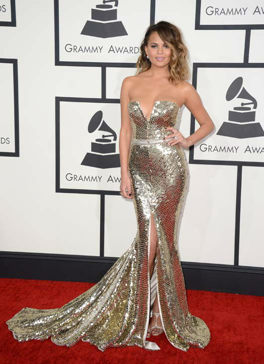 Chrissy Teigen grammys awards 2014