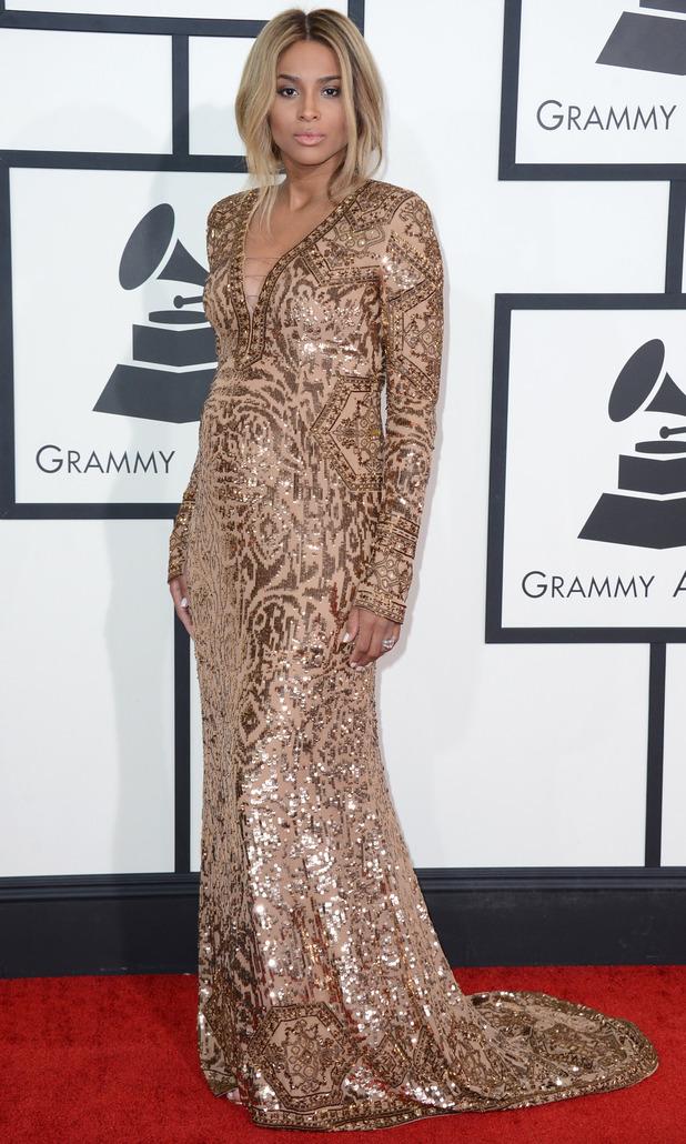 ciara grammy awards 2014 in emilio pucci