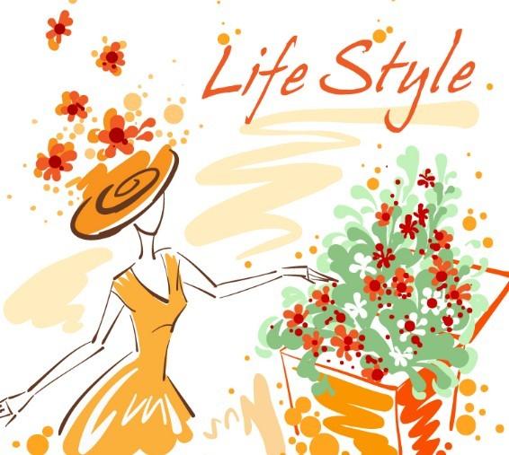 Fashion-Hand-Drawn-Vector-Spring-Girl-06