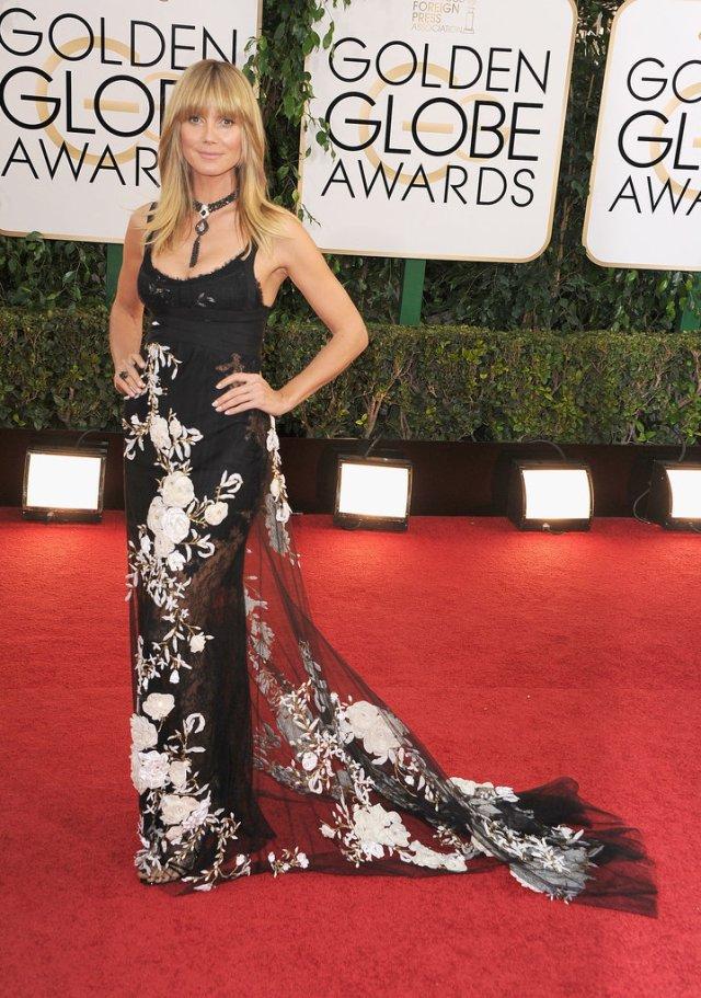 Heidi Klum Golden Globes 2014
