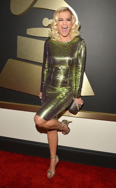 rita ora in lanvin grammy awards 2014