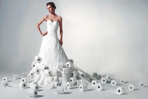 abiti da sposa carta igienica