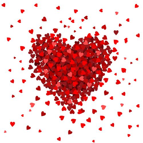 san valentino cuori vector