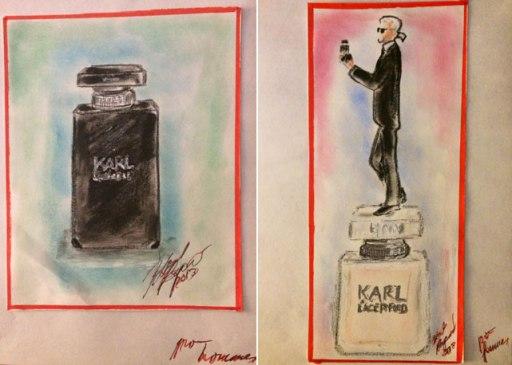 disegno profumo karl lagerfeld