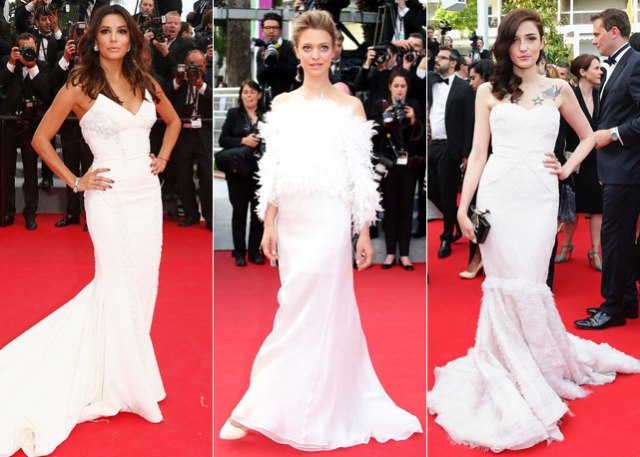 abiti bianche look red carpet